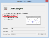 ATPDesigner Release Information in the Info about ... dialog